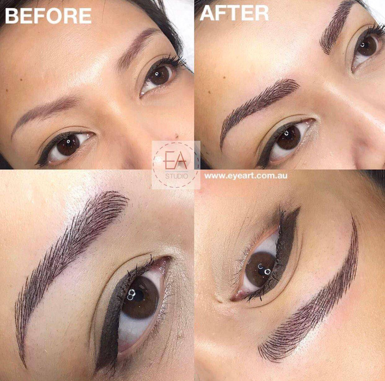Best Eyebrow Microblading Feathering Salons for Asians Eyebrow Tattooing