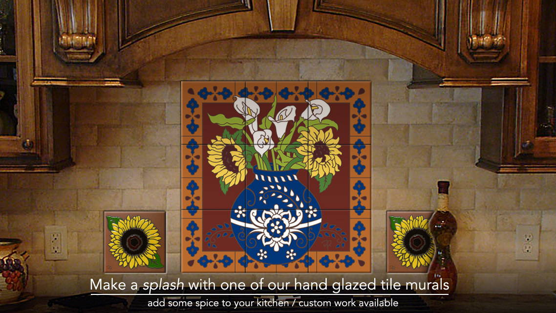 Hand Glazed Tile Murals - Make a splash in your kitchen