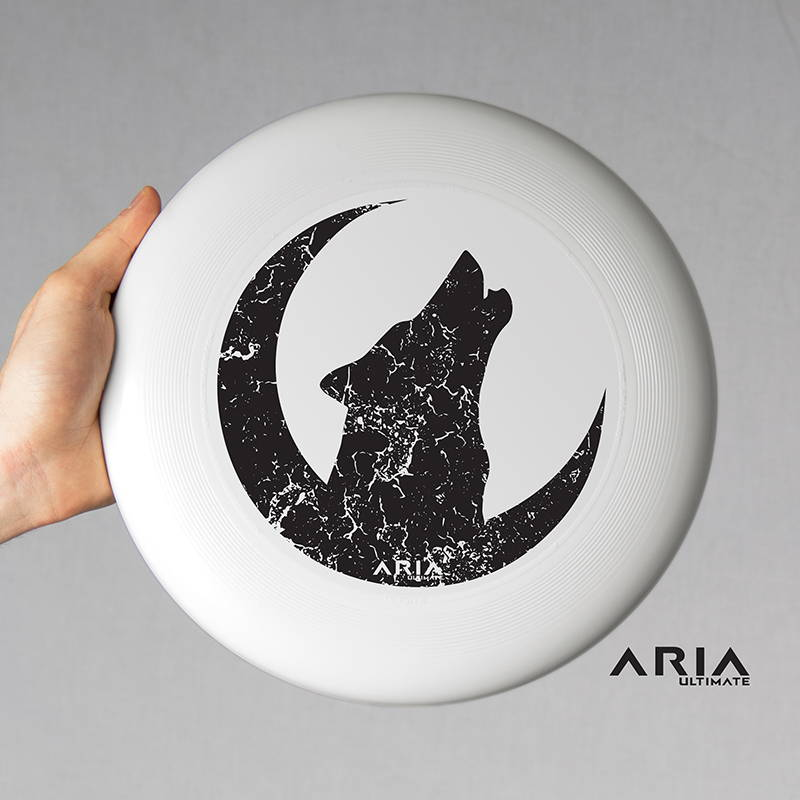 ARIA professional official ultimate flying disc for the sport commonly known as 'ultimate frisbee'  howl at the moon design