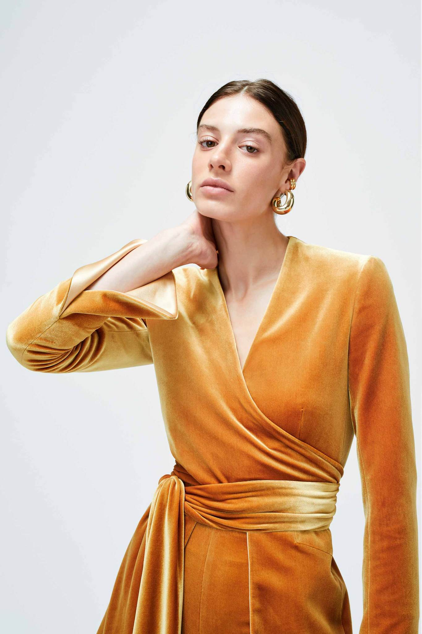 Galvan London Velvet Mustard Yellow Blazer