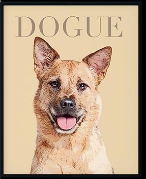 dog pop art on framed prints