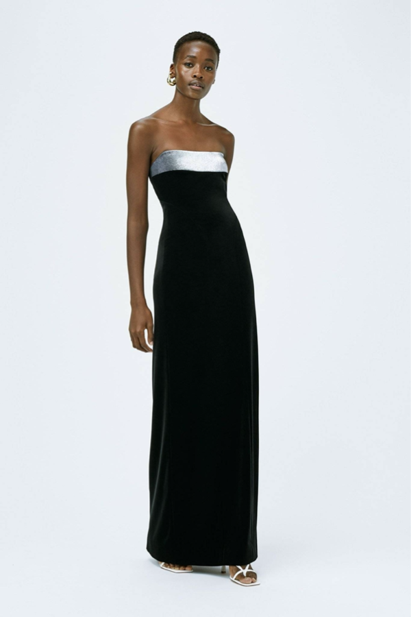 Galvan London Fourreau Brand Black Velvet Dress