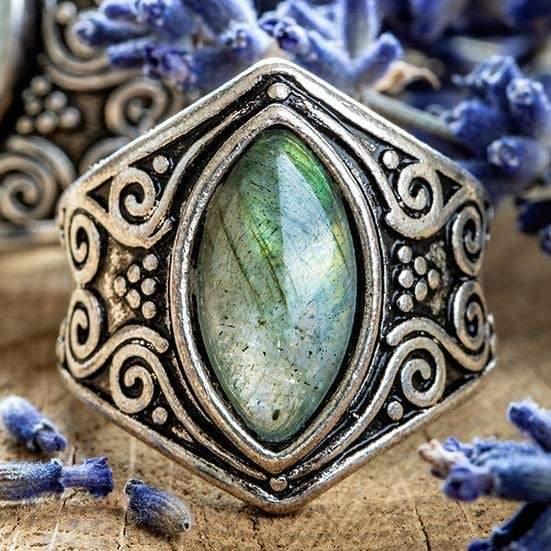 Moonstone Full Moon Ring