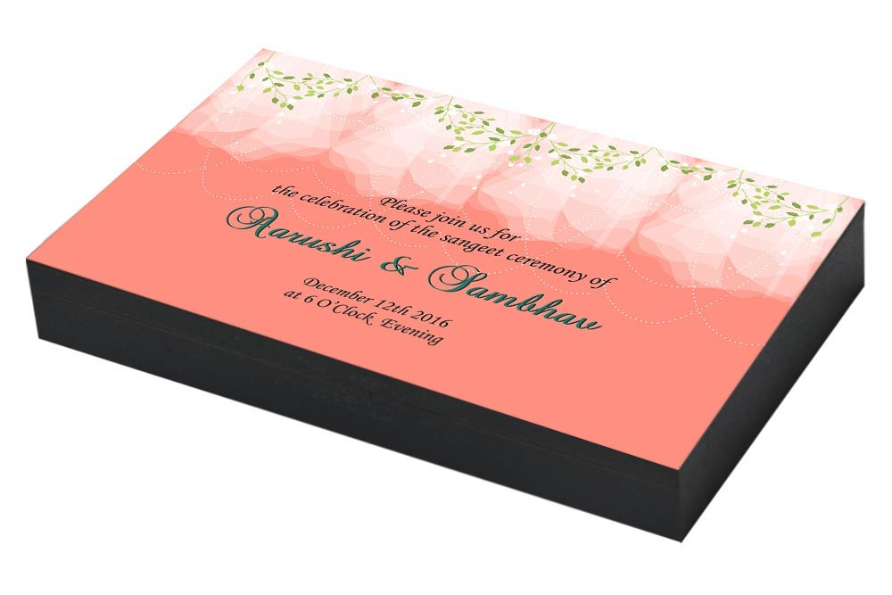 Vintage Border Sangeet ceremony Invitation