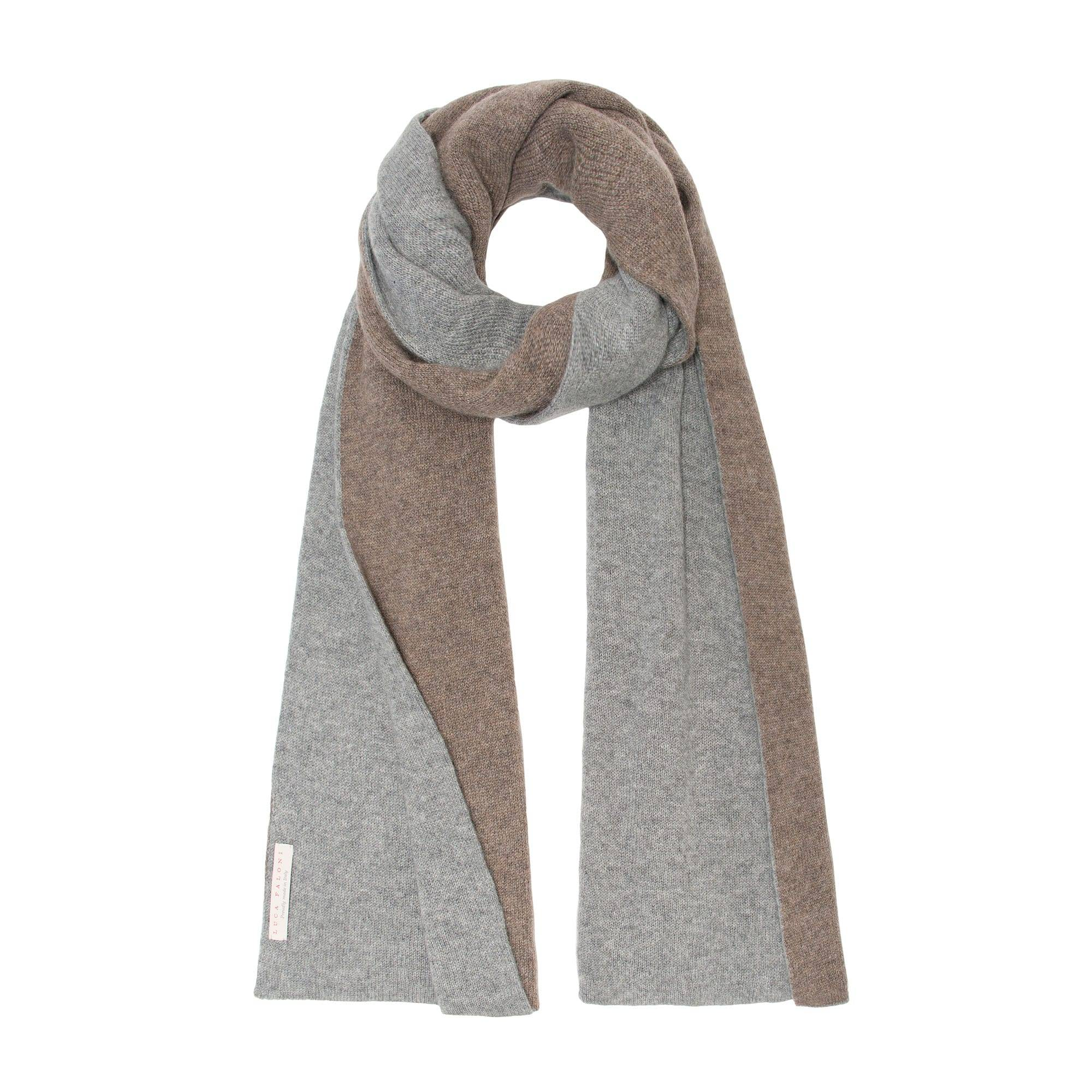 Luca Faloni Cashmere Double-Faced Scarf Made in Italy