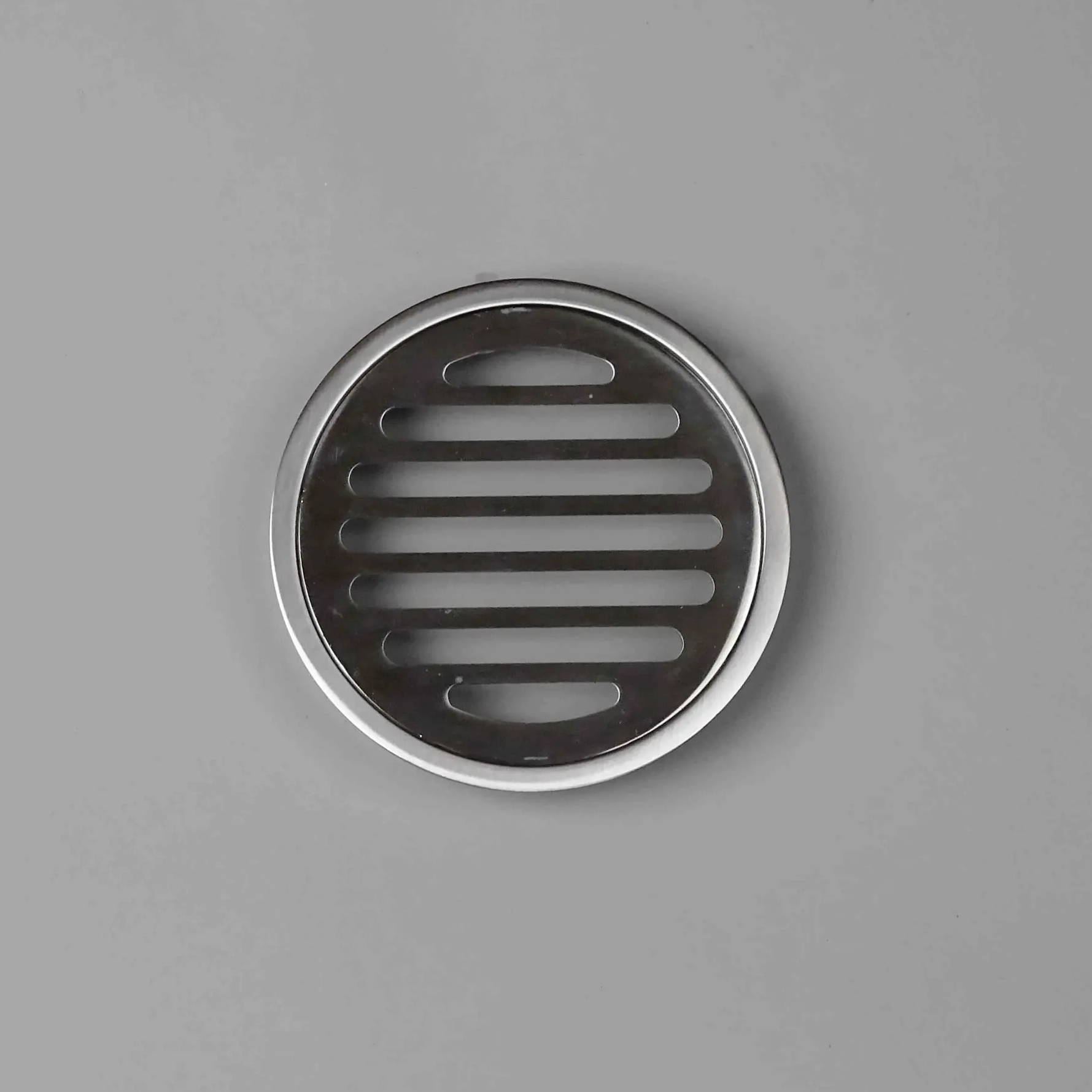 Round chrome shower drain grates wondercap bathroom renovation