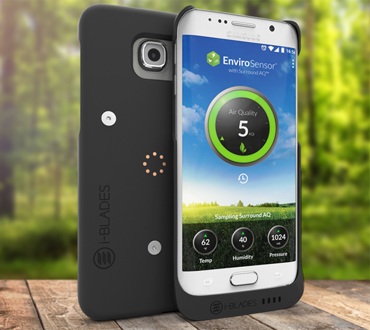 Portable air quality monitor technology in a phone case - i