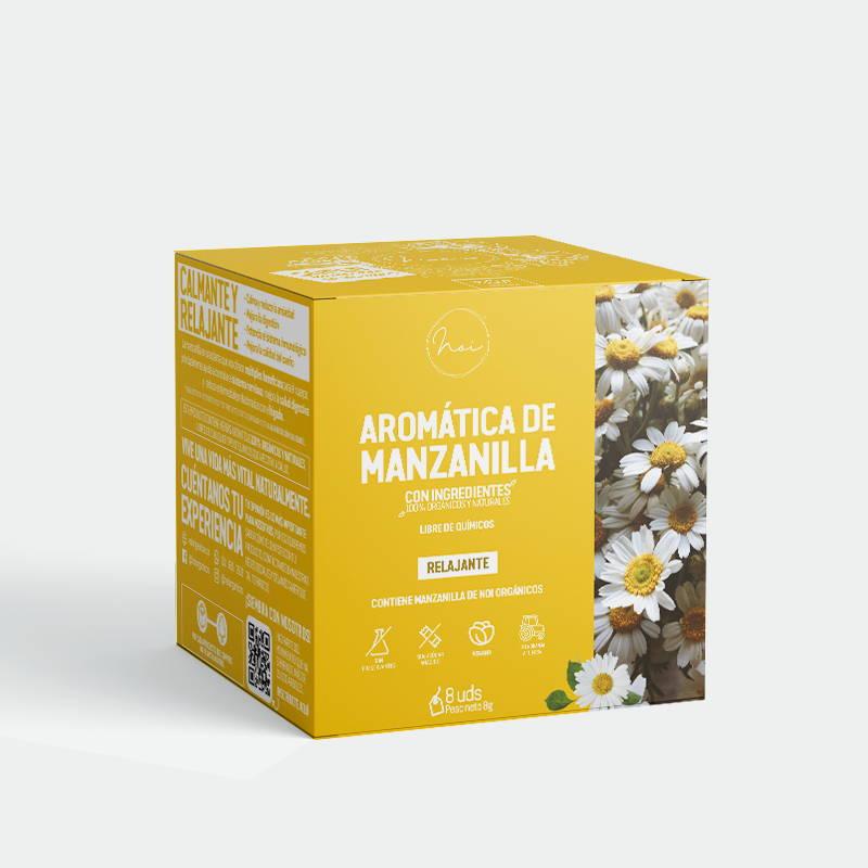 caja de aromatica de manzanilla calmante y relajante
