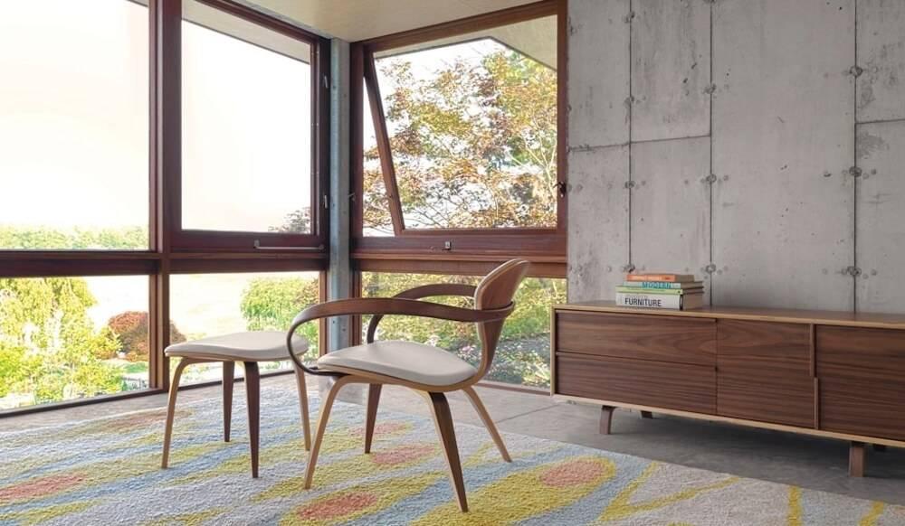 Cherner Lounge Armchair and Ottoman