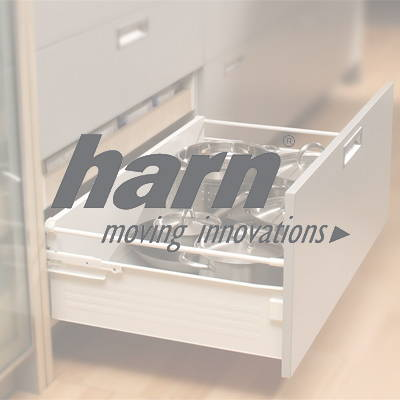 Harn drawers used in our flat pack kitchens
