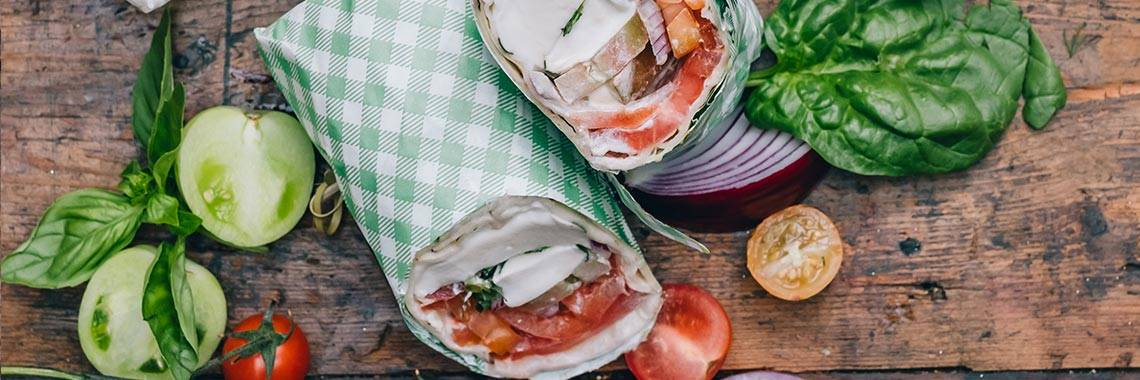 Delicious catering wraps available from The Grounds Catering, Sydney