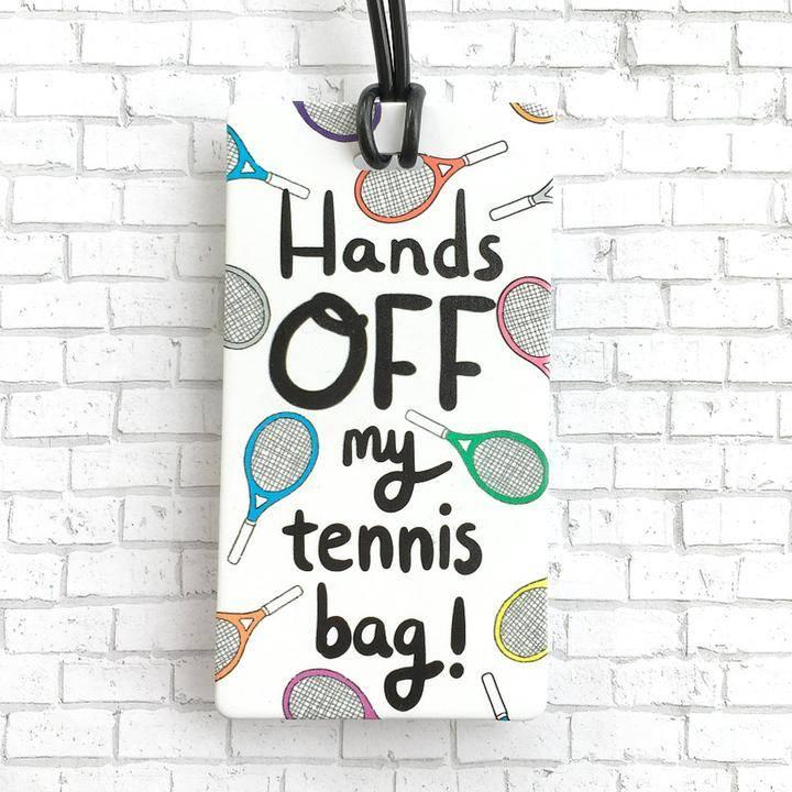Racquet Smash Luggage Tag