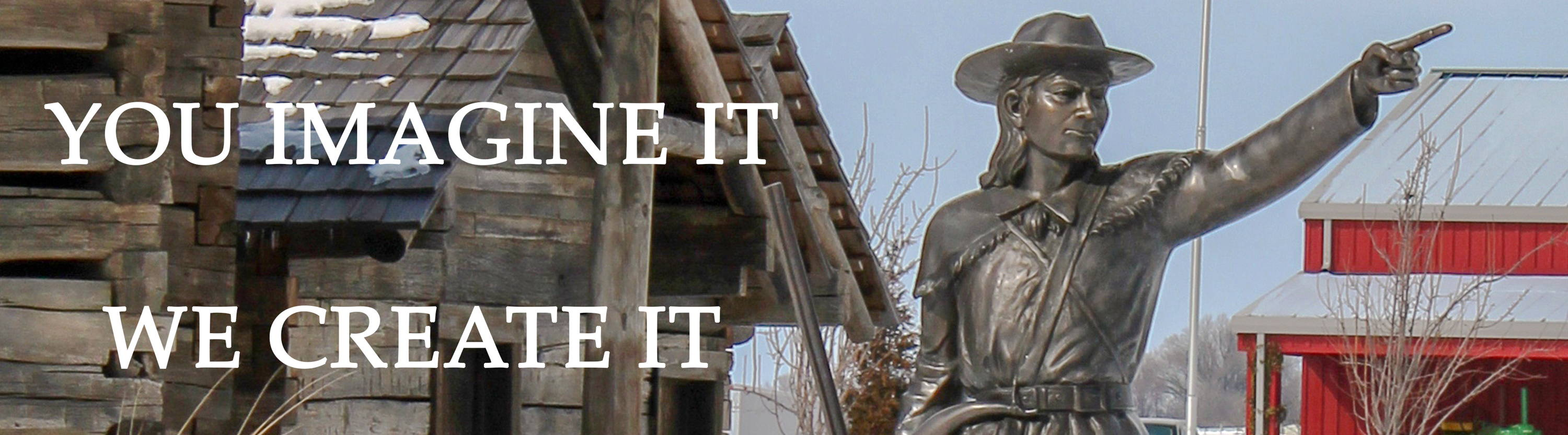 Davy Crockett Custom Bronze Sculpture - Designed & Cast for Discovery Park of America - Union City, TN