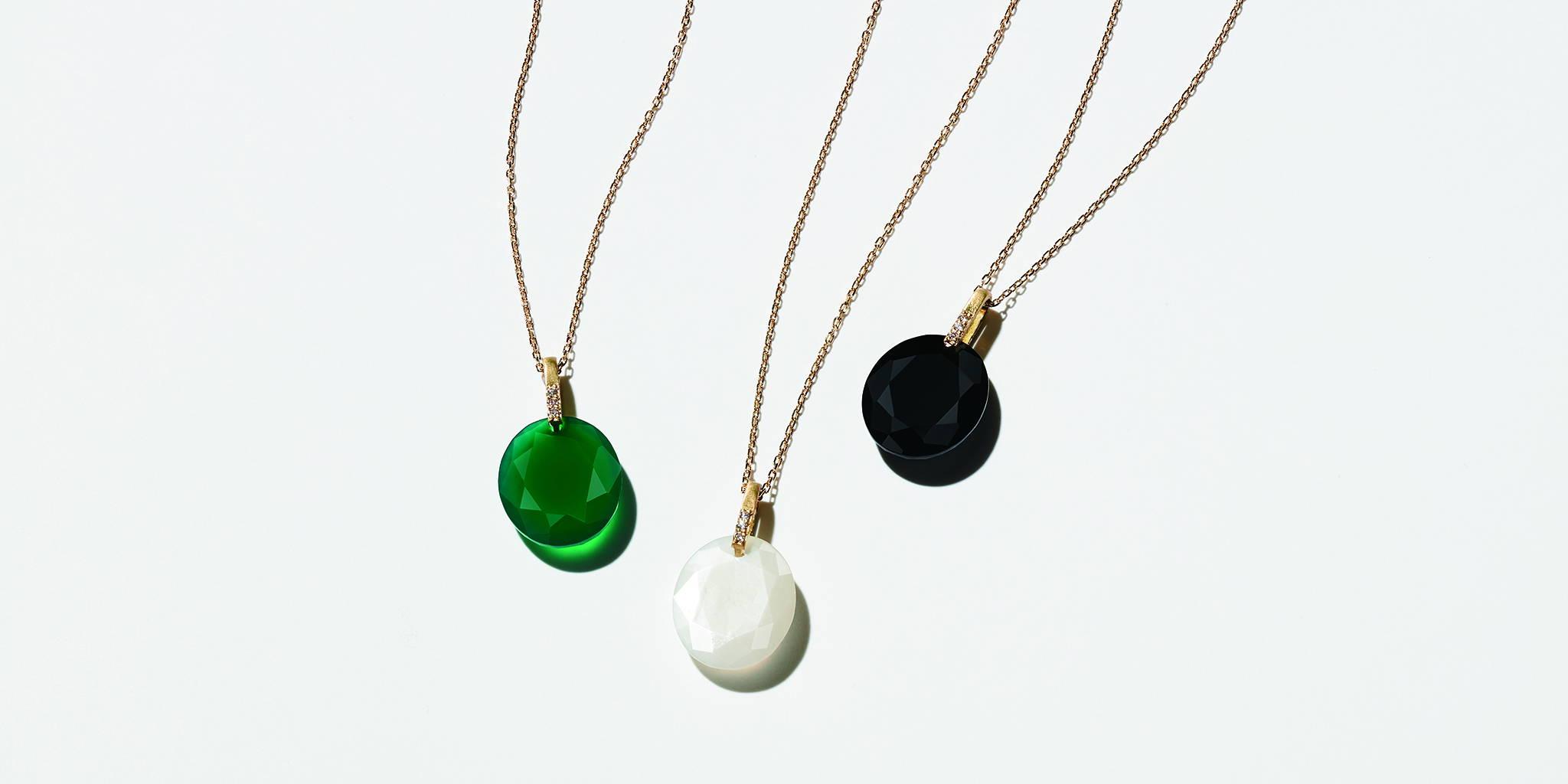 エシカルジュエリー エシカルダイヤモンド 天然石ネックレス HASUNA ハスナ