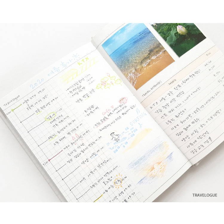 Travelogue - O-CHECK 2020 Shiny days hardcover dated weekly diary planner