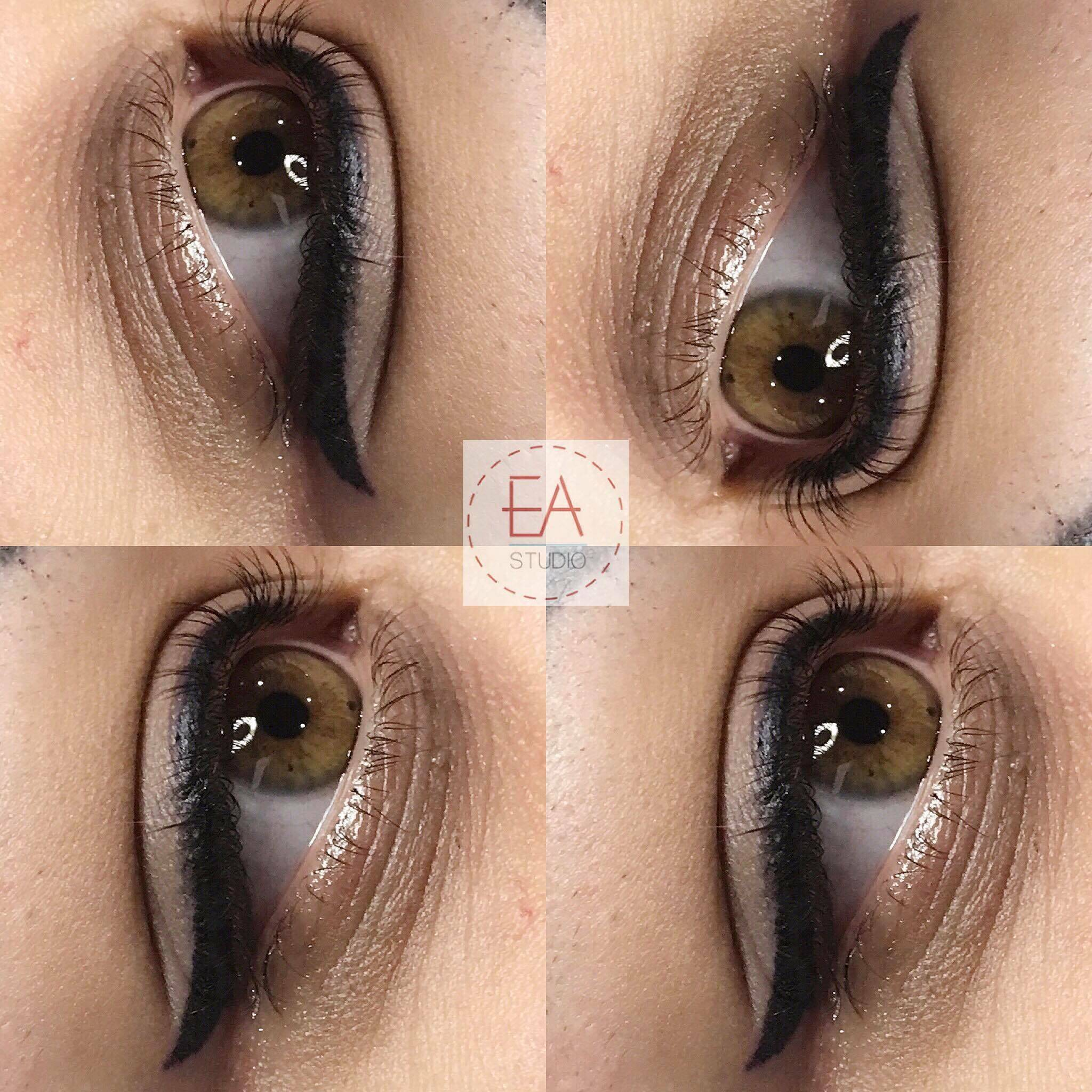 Winged Eyeliner Tattoo by Eye Art Studio