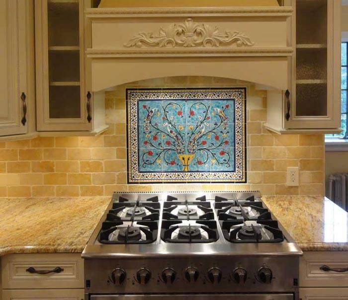 Pictures of kitchen backsplash tile murals