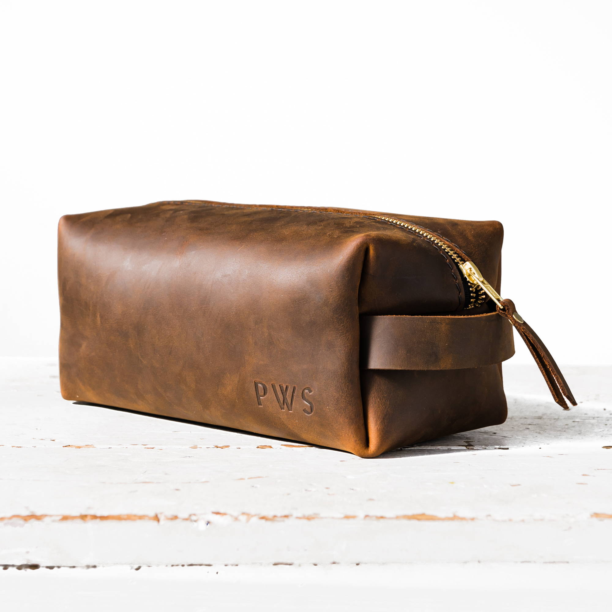 canyon handmade leather dopp kit by portland leather goods