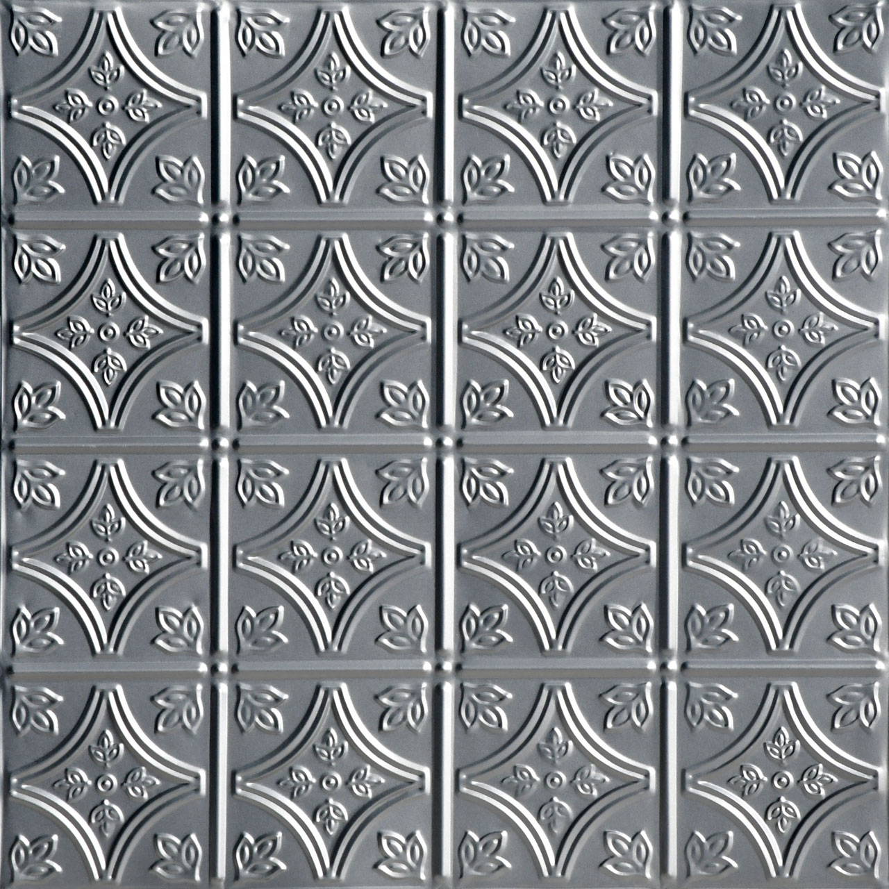 Tiny Tiptoe 2 ft x 2 ft Shanko - Wall and Ceiling Patterns - #209 - (Pack of 12) - Lacquered Steel
