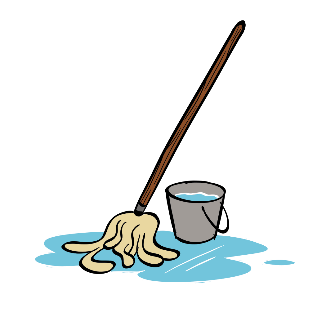 illustrated mop