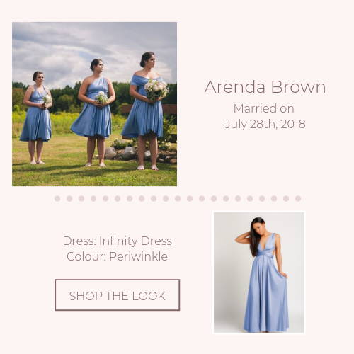 blue infinity bridal party real wedding
