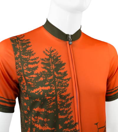 tree adventure cycling jersey front