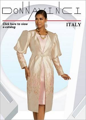 Donna Vinci Italy Spring Summer 2020 Collection of Women Church Suits, Knits, Dresses and Hats