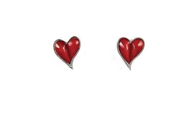 Sorrel Sky Gallery. Santa Fe Gallery. Art Gallery. Valentines Gift Ideas. Valentine Jewelry. Ben Nighthorse. Heart Jewelry. Heart Studs