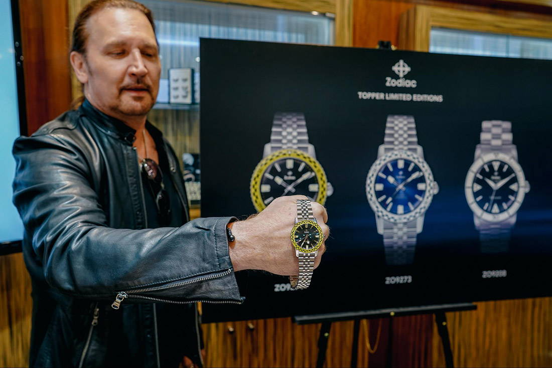 Kiss's Eric Singer Presenting the Zodiac Limited Edition Series II