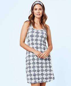 This is J bamboo tank nightie pajamas hatch light blue.