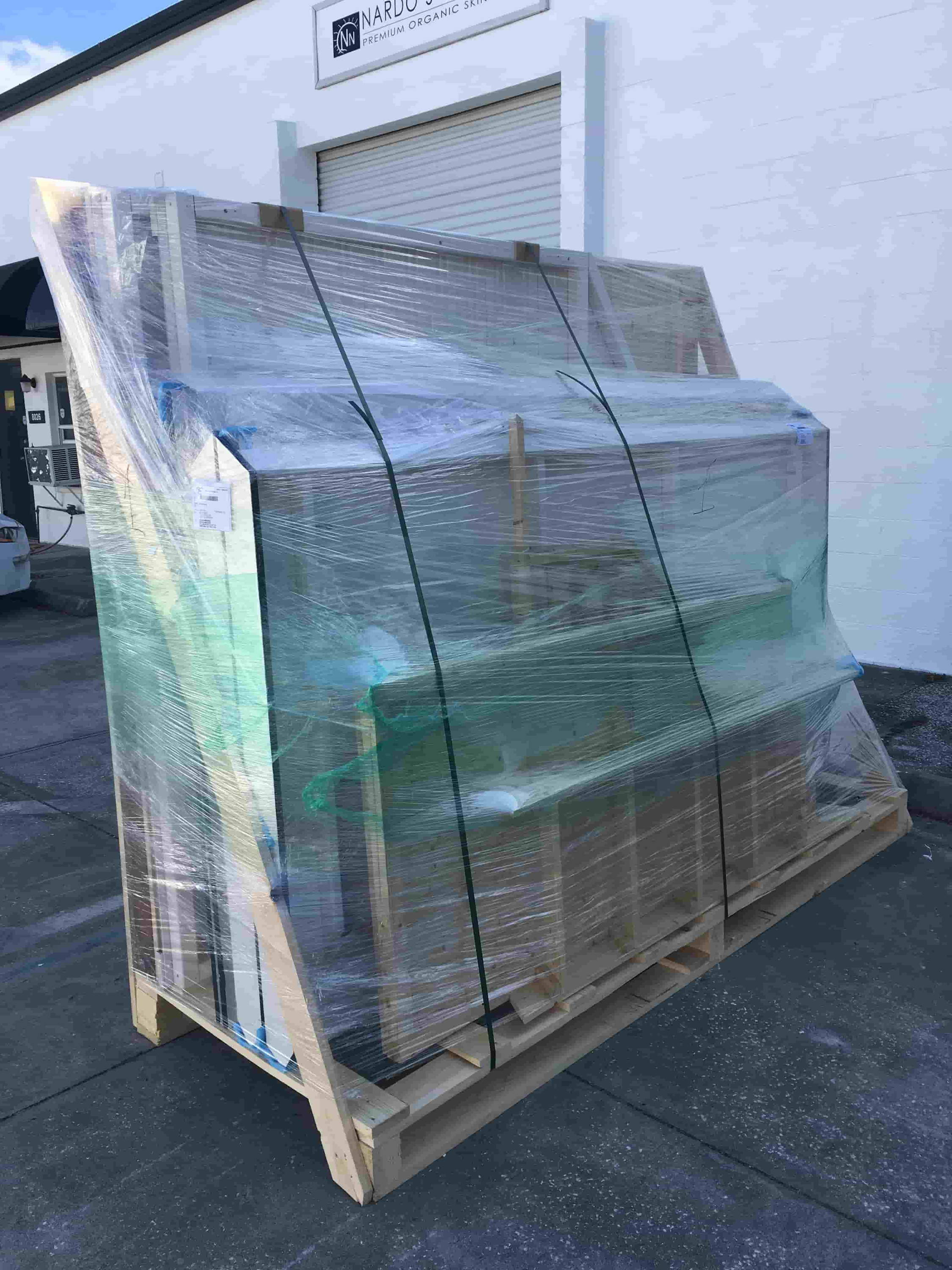 Package of a kids playhouses ready for shipment