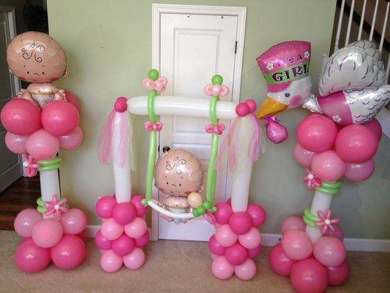 Baby Shower Balloon Decoration Ideas Party Zealot