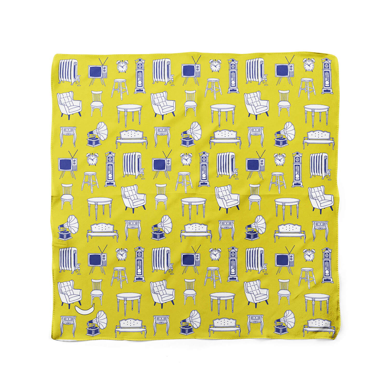 Banana Bandanas Home Sweet Home dog bandana home furniture illustration dog bandana