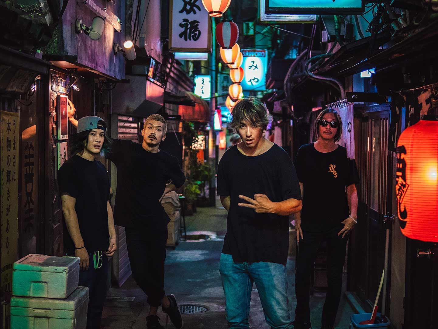 ROS Japanese punk band pic with Dragon Ash Guitarist