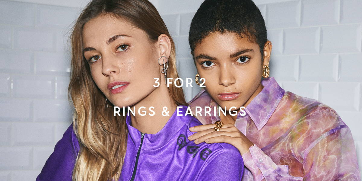 3 for 2 earrings and rings