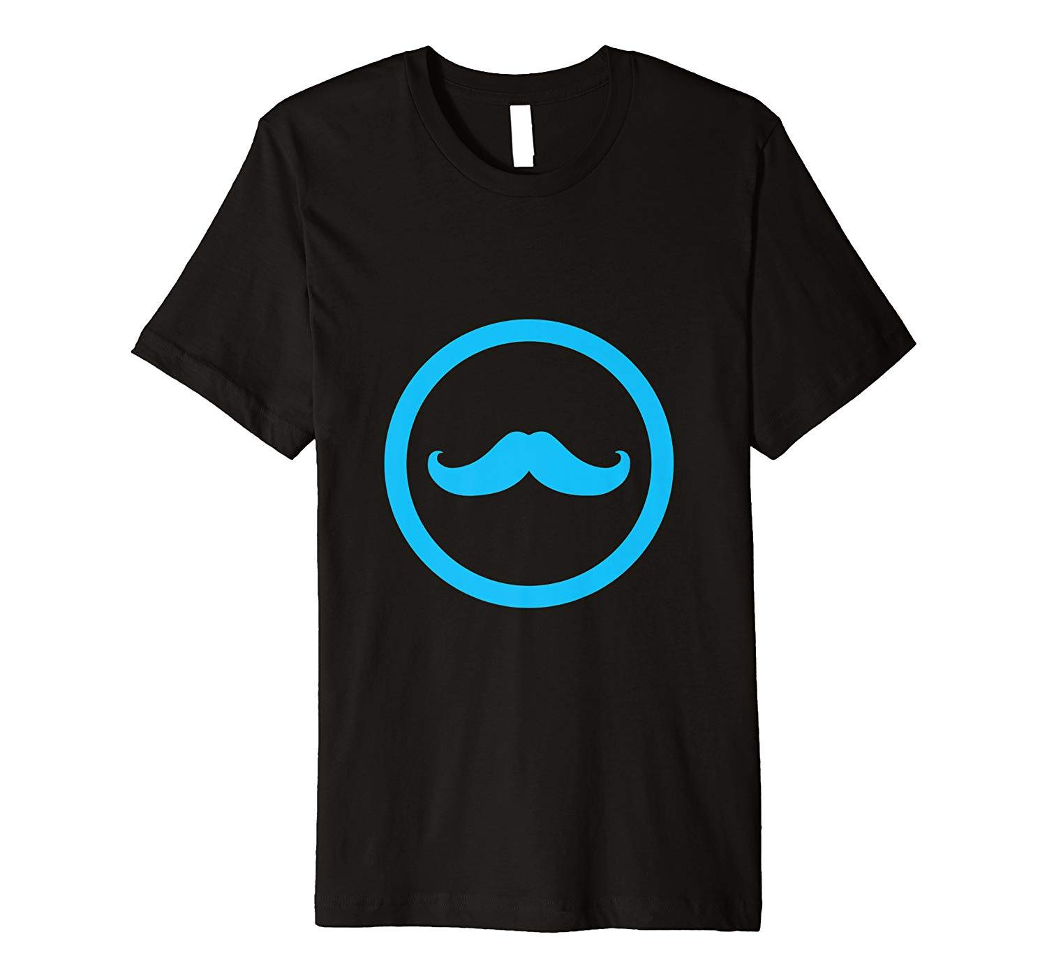 Black and Blue Mustache Shirt