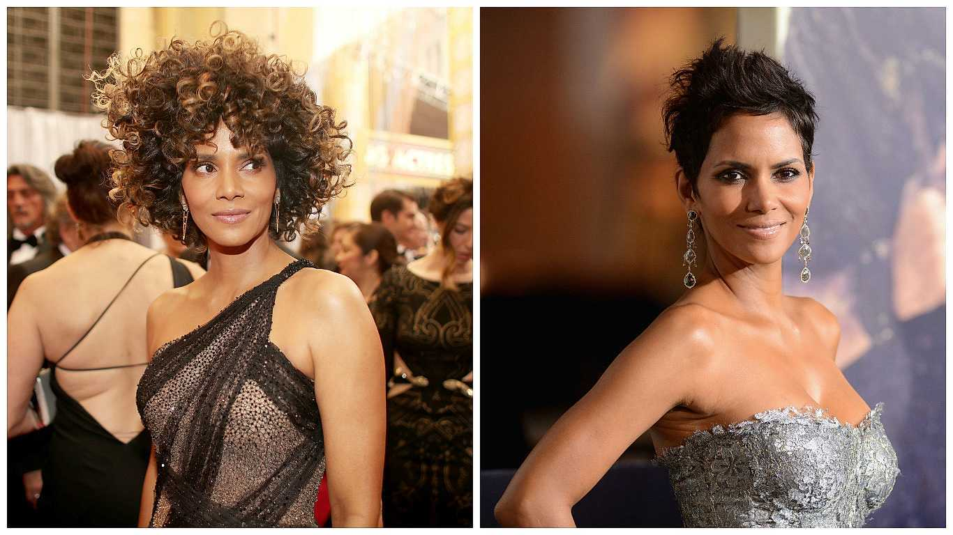 Halle Berry with curly hair