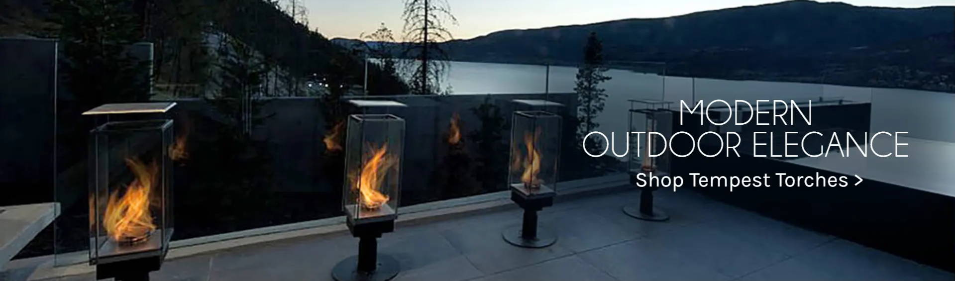 Modern Outdoor Elegance Shop Tempest Torches