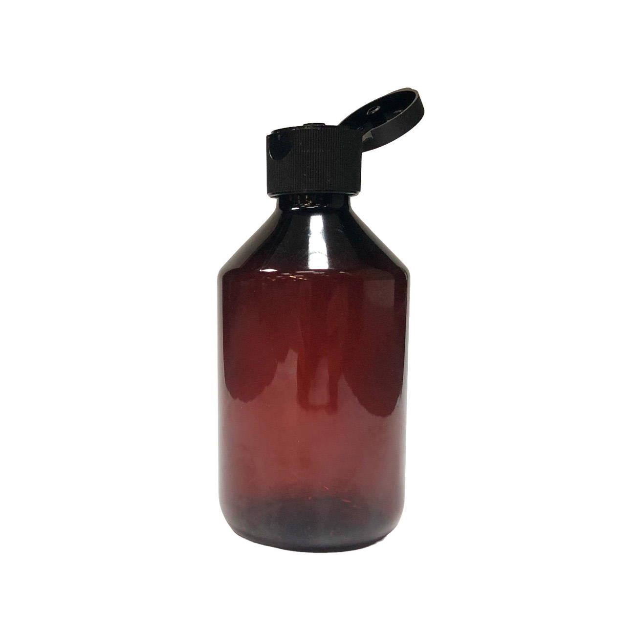 28mm black cap on amber bottle