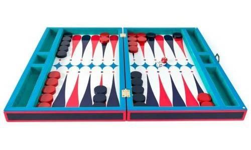 Lacquer Backgammon Set