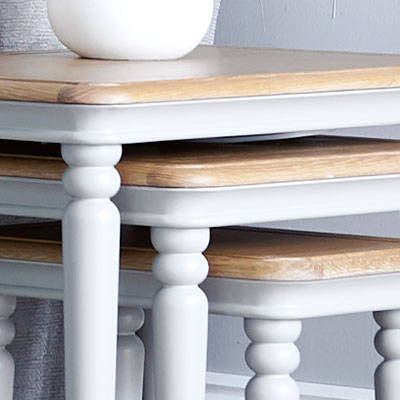 Painted & Oak Nest Of Tables