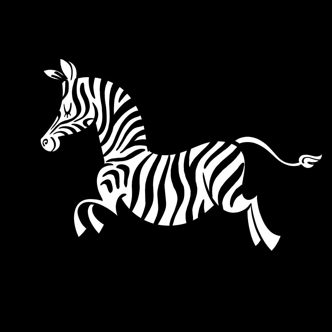 illustrated zebra