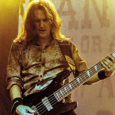 David Ellefson of Megadeth recycled guitar string bracelets and jewelry
