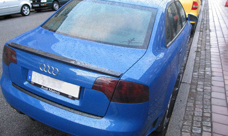 Audi with Smoked Lamin-x tail light film covers