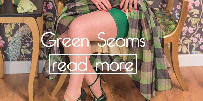 green seamed stockings in the 1950s
