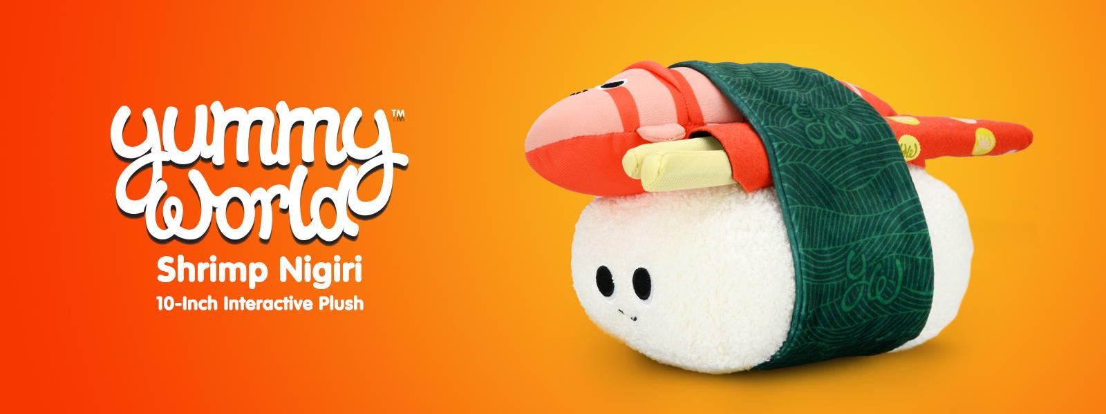 Yummy World Shrimp Nigiri Interactive Plush by Kidrobot
