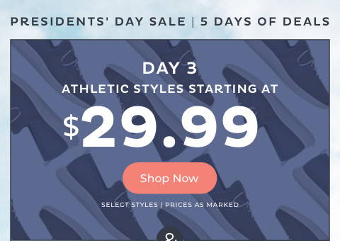 $29.99 & Up Athletic Styles