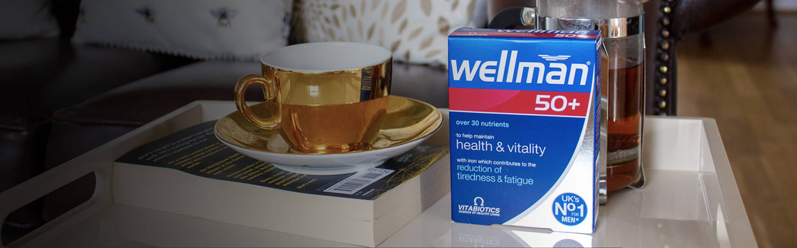 Your prime is wherever you want it to be. But, as you get older, your body deserves the right support to maintain an active lifestyle. With Wellman 50+, we've brought together the most essential nutrients for health, vitality and wellbeing – and added essential minerals like Iron which is needed for the reduction of tiredness and fatigue.