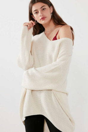 White winter sweater