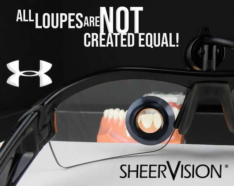 Save $200 On New Custom TTL Surgical Loupes, Dental Loupes, Hygiene Loupes on a lightweight Under Armour Frame
